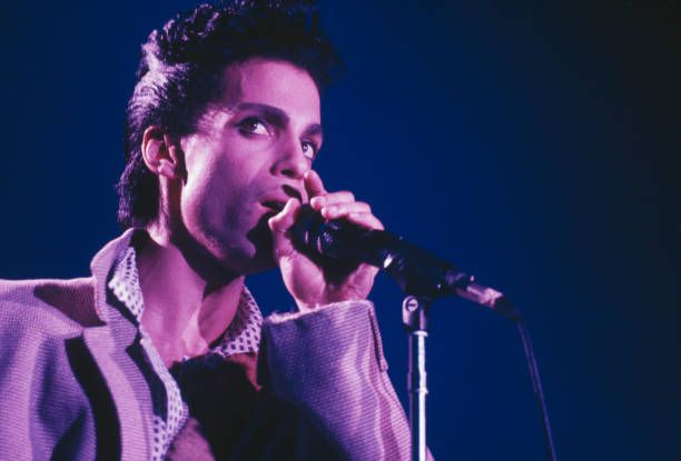 American Singersongwriter And Musician Prince Performs On Stage On The Hit N Runparade Tour At Wembley Arena L Music Artist Names Prince Musician Music Artists