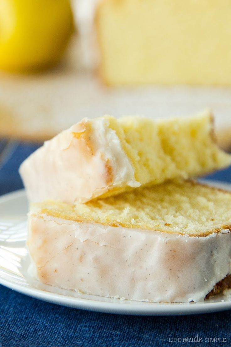 Lemon Pound Cake with Vanilla Bean Glaze