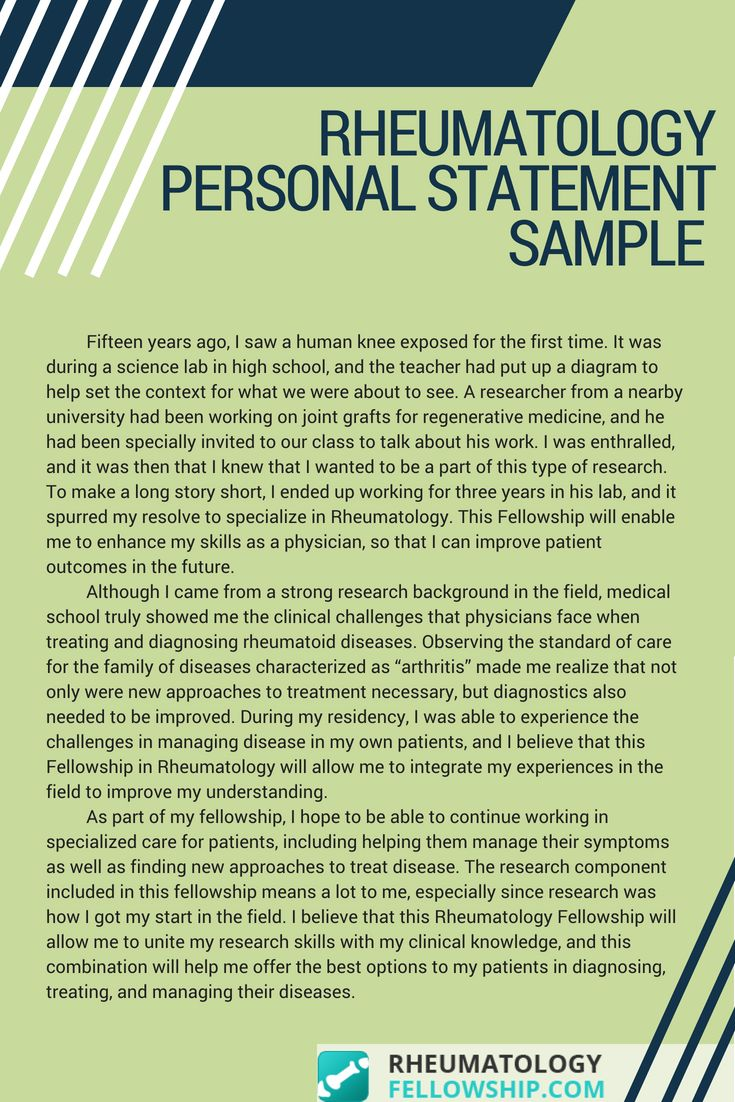 Fellowship Personal Statement Sample That Will Give You The Tips You Can Use For Your Writing Follow This Link For More Samples Now Http Www Rheumatologyfel Personal statement for fellowship examples