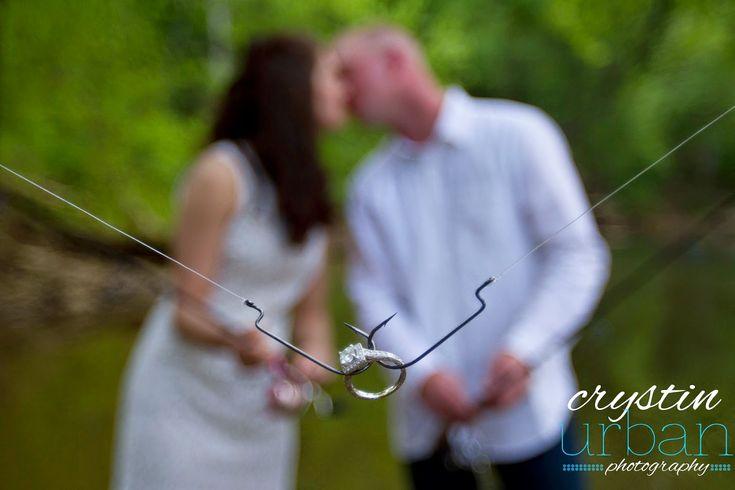 Crystin Urban Photography: Kentucky Wedding Photographer. River engagement photography. Fish hook engagement ring