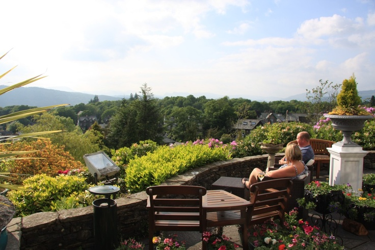 You'll find it hard to find better lake district views from Hillthwaite House Hotel in Windermere. Here's a couple of guests enjoying a drink!