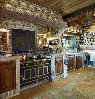 Rustical kitchen in Cassà de la Selva, Spain
