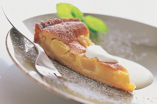 Pæretærte med bagt marcipan creme2