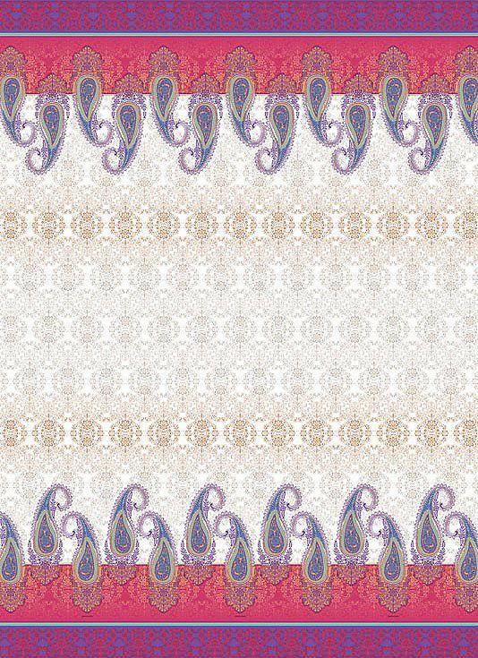 Die Tagesdecke der Serie »Kaula« ist ein dekorativer Blickfang für jedes Schlafzimmer. Bei dem Muster »Kaula« lässt man das klassische Paisley mit grafischer Eleganz in moderner Zweifarbigkeit aufleben und wertet dabei die Bordüren ganz besoners auf. Im Hintergrund befindet sich eine abgetönte Verzierung , die sich zu einem suggestiven Dekor in der Mitte des Dessins entwickelt.  Die Tagesdecken...