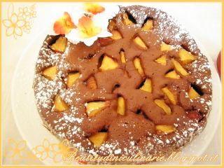 Torta cioccolato e pesche