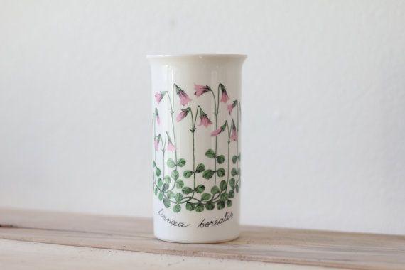 Vintage 1960s Finish Design Vase / Linnea borealis / Arabia by Esteri Tomula Designer