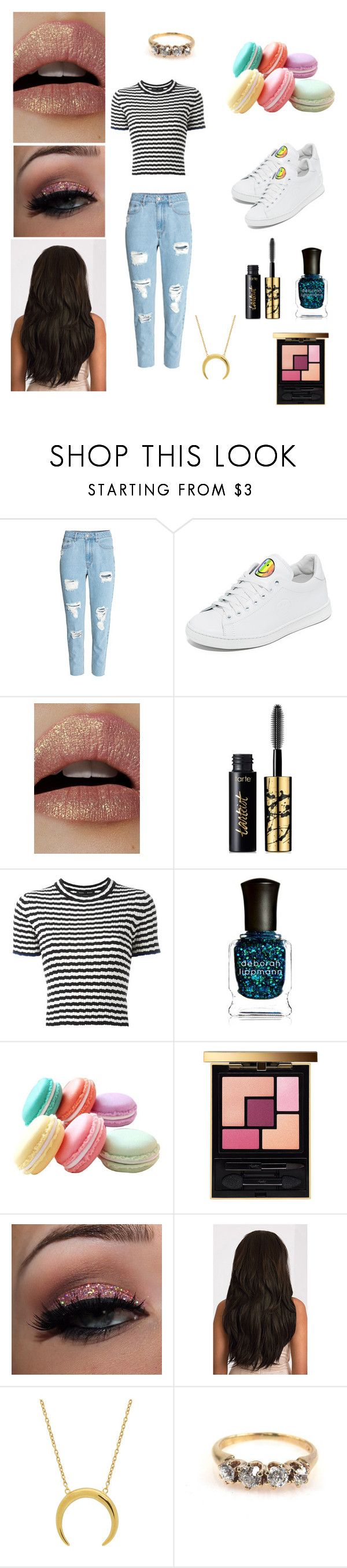 """First Day Of School"" by echey on Polyvore featuring H&M, Joshua's, Lime Crime, tarte, Proenza Schouler, Deborah Lippmann and Yves Saint Laurent"