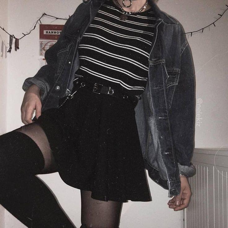 1, 2 or 3? Credit @nelekiz • • • #grunge #girl #tumblr #social #like #beautiful #followme #ootd #outfit #alternative #rock #photooftheday…