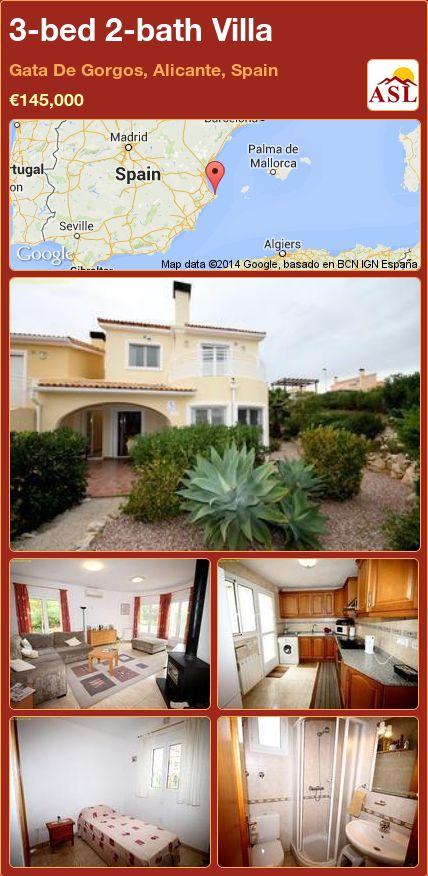 3-bed 2-bath Villa in Gata De Gorgos, Alicante, Spain ►€145,000 #PropertyForSaleInSpain