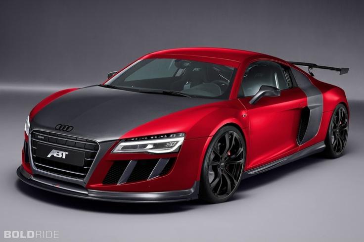 ABT Audi R8 Red Desktop Wallpaper