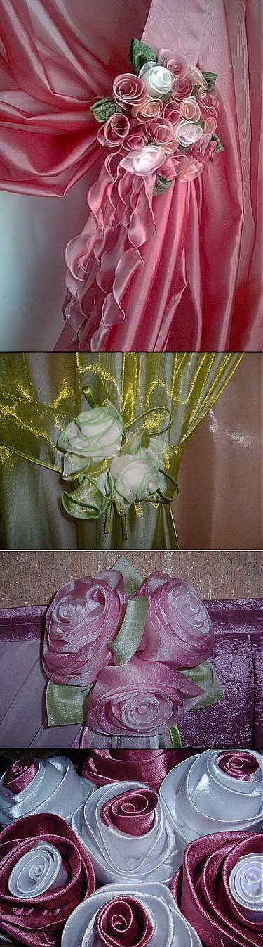 Изготовление букета роз из ткани для штор. Видео и фото мастер-классы. | СВОИМИ РУКАМИ | Постила
