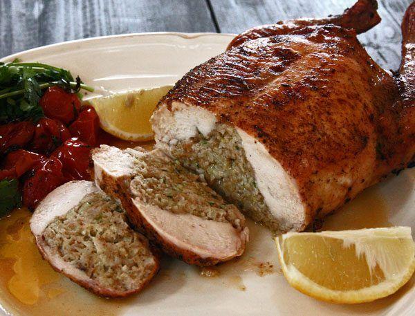 Фаршированная курица по-тоскански