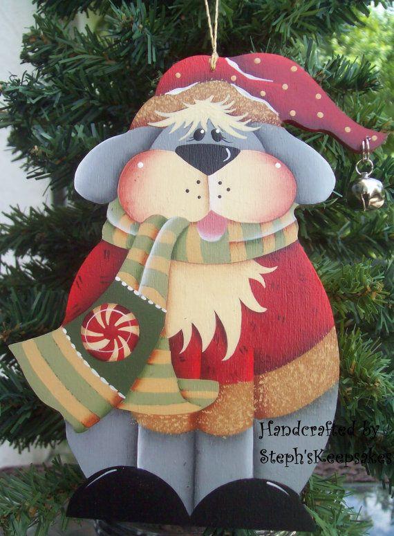 Handpainted Christmas  Ornament by stephskeepsakes on Etsy, $7.50