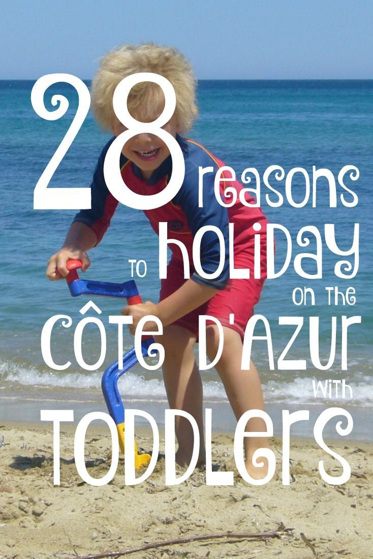 The Côte d'Azur (French Riviera) is a great place to have a vacation with your toddler. Here you'll find plenty of great ideas for what to do on your holiday in the South of France