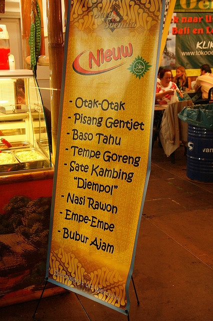 "Menu at the ""Tong Tong Fair"" in The Hague. ""Tong Tong Fair"" voorheen Pasar Malam Besar, is het grootste Euraziatische festival ter wereld. Fill your autoresponder every time using the ""Full Meal Deal"""