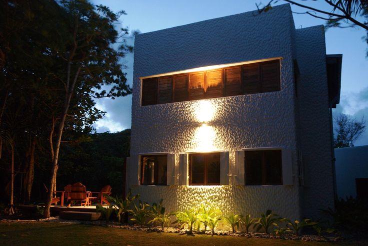 Dusk ay Papaya Villa; I love the architecture in this light