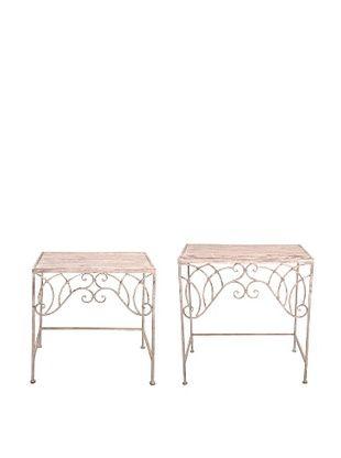 44% OFF Esschert Design USA Set of 2 Tall Aged Metal Side Tables