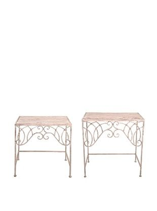 44% OFF Esschert Design USA Set of 2 Tall Aged Metal Side Tables
