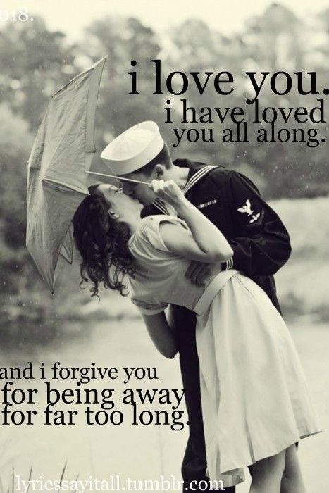 """I don't feel the need to """"forgive"""" him. I know he'd be with me in a heartbeat if he could. But I adore this picture. <3"""