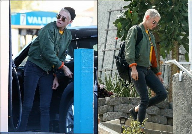 RETURNING A SWEATSHIRT?? Kristen Stewart Seen Leaving Ex Alicia Cargile's Home | Autostraddle