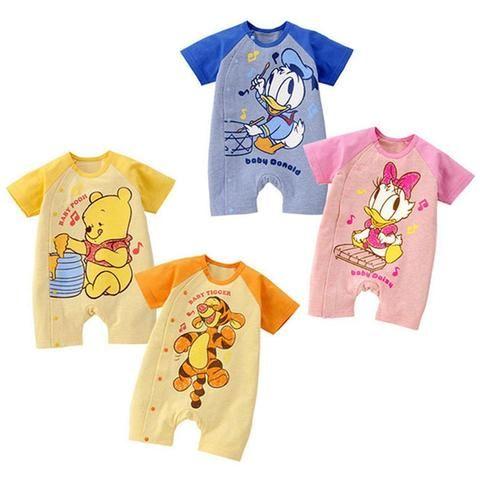 38cc8bcff3eb3 Cartoon Baby Rompers 2018 Summer Short Sleeve Cute Baby Girl Clothes ...