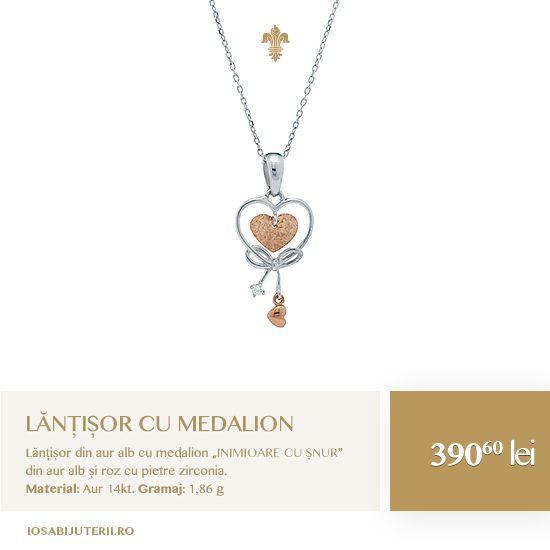 O modalitate potrivită de a-i arăta cât de apropiate sunt inimile voastre. Un medalion rafinat din aur alb și roz cu pietre semiprețioase.  Vezi detalii pe http://www.iosabijuterii.ro/bijuterii/lantisor-cu-medalion-inimioare-cu-snur/»