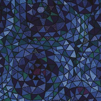 Oomph fabric - blue - Ljungbergs Factory
