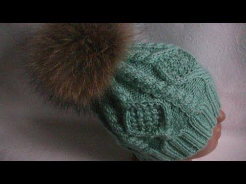 Вязание шапки  на 5(пяти)  спицах, - YouTube
