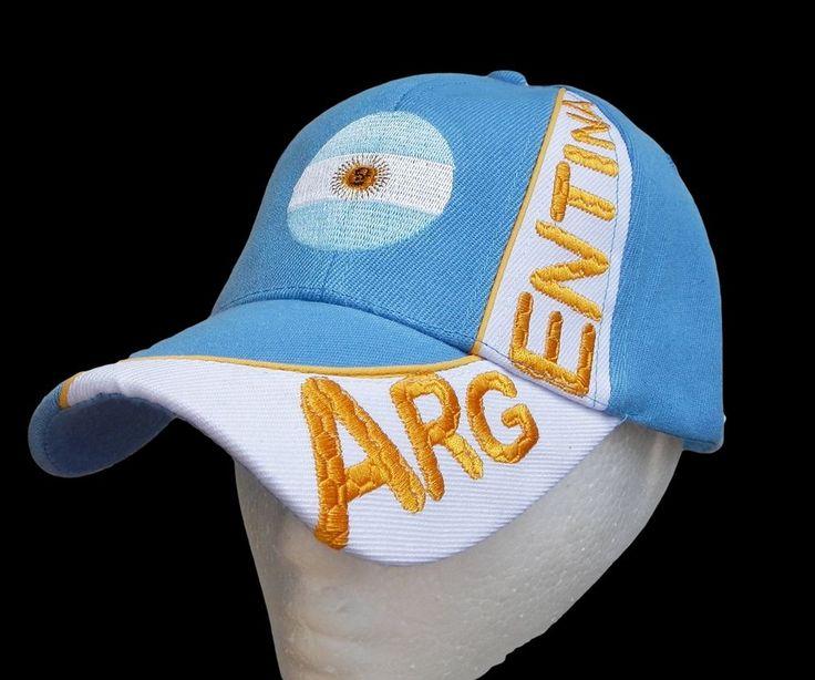 Argentina Country Flag Ball Cap Hat Sports Baseball Caps Hats Casquette Chapeau #argentina #argentinacap #argentinabaseballcap #baseballcap