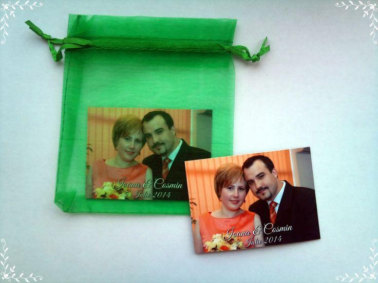 Marturii magnetice realizate pentru nunta | MopoShop