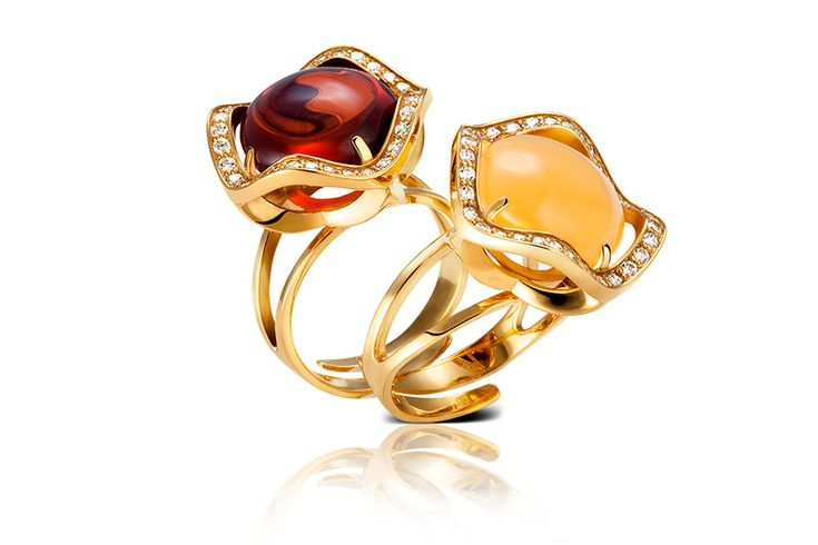 biżuteria packshoty złote pierścionki