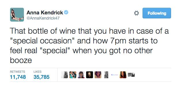 When she understood that every time is the right time for wine.