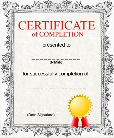 15 Best The Science Of Exercise Images On Pinterest Day Care   Certificate  Of Completion Sample  Free Blank Printable Certificates