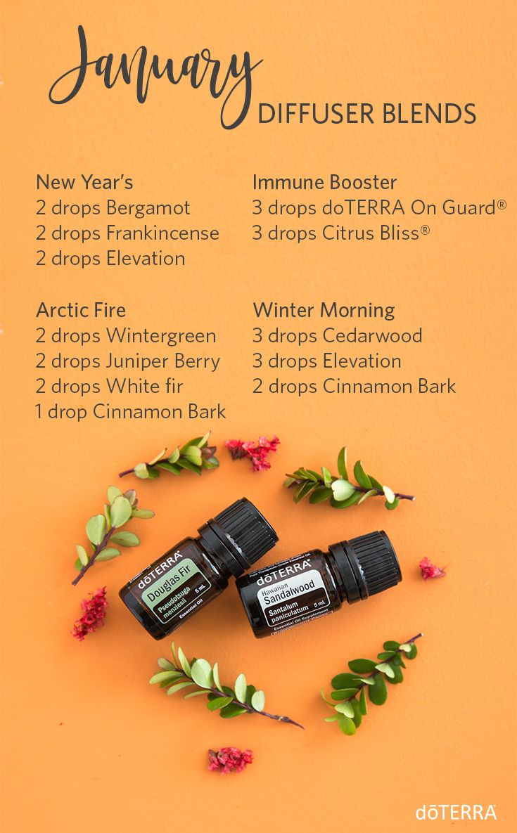 January is in full swing! Try these new diffuser blends to inspire your month.