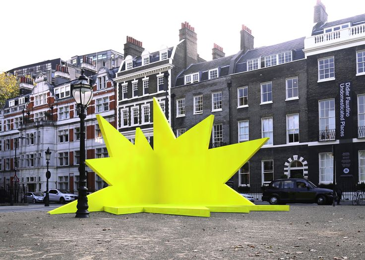 Didier Faustino's AA exhibition includes a spiky yellow stage