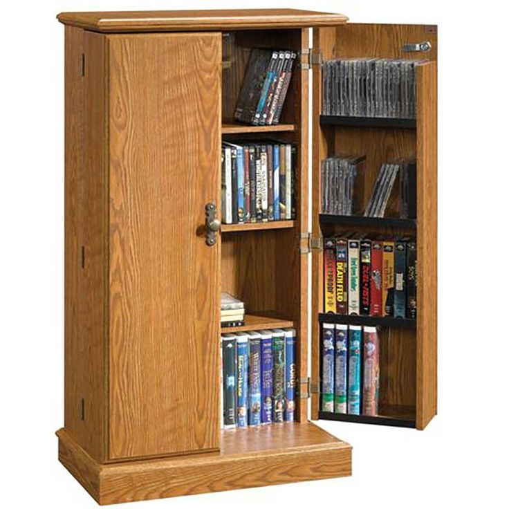 Audio or Video Storage Cabinet in Oak Finish   401349   Sauder Woodworking   AFW