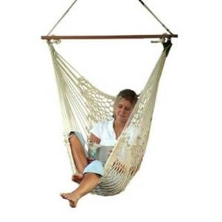 Check out the Castaway Hammocks by Pawleys Island 311CW Single Cotton Rope Swing Hammock