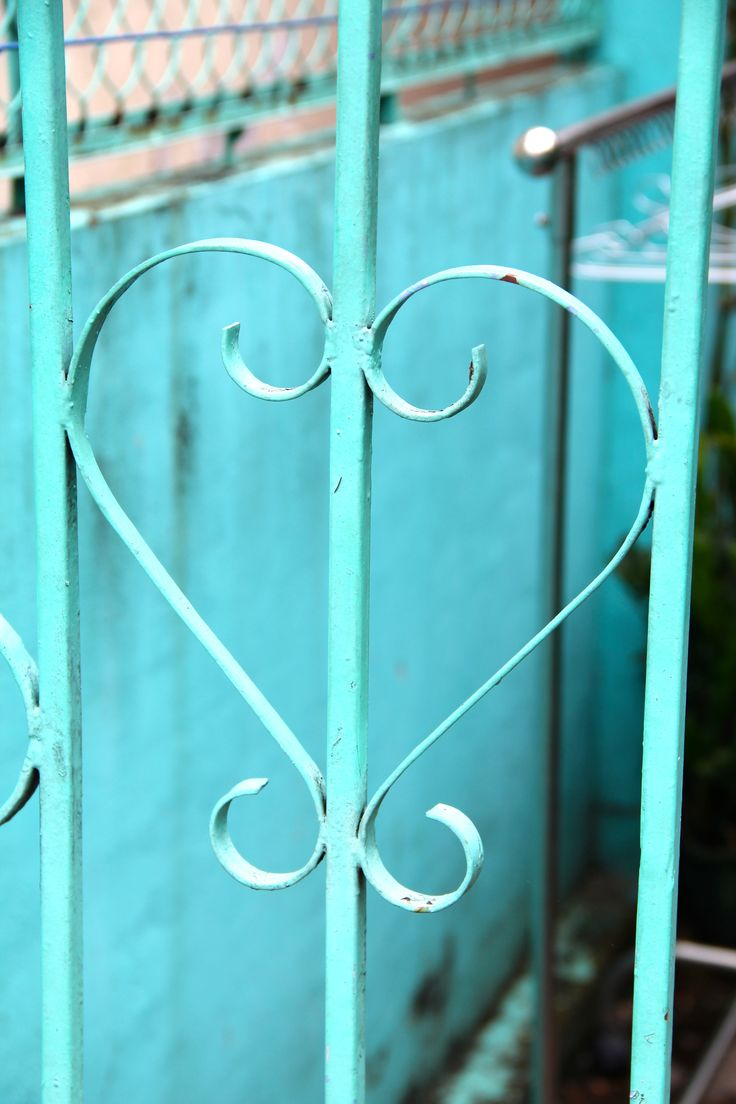 Turquoise gate detail