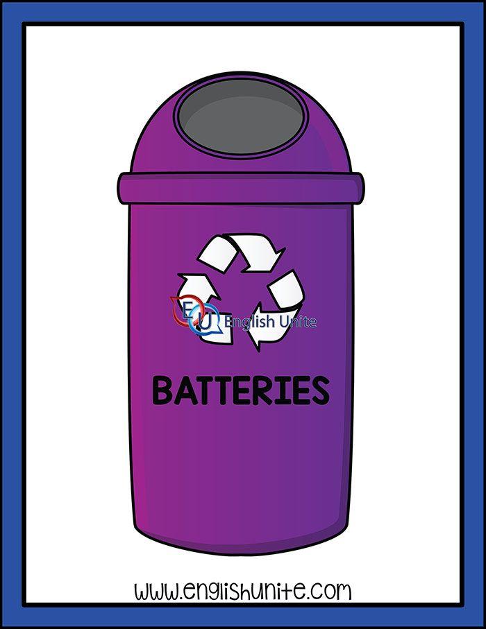 Recycle Batteries Bin Recycling Recycling Bins Battery Recycling