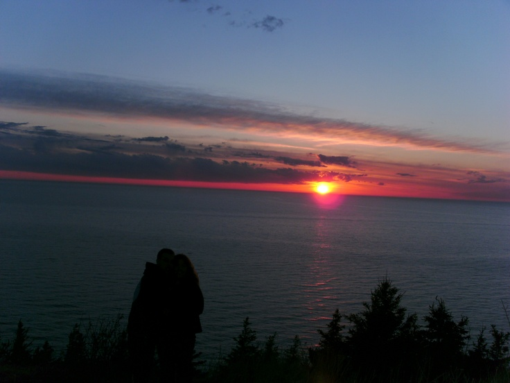 Sunset from a random place on the Cabot Trail, Cape Breton.