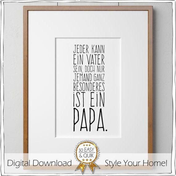Vatertag Druckvorlage für Papa, inkl. Geschenkanhänger, Bild Selbermachen, drucken, Poster, Spruch, Familie, Papa, Opa, Last Minute Geschenk
