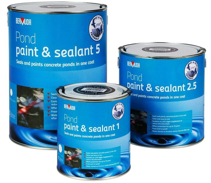 Concrete fish pond paint years of protection and for Koi pond sealer