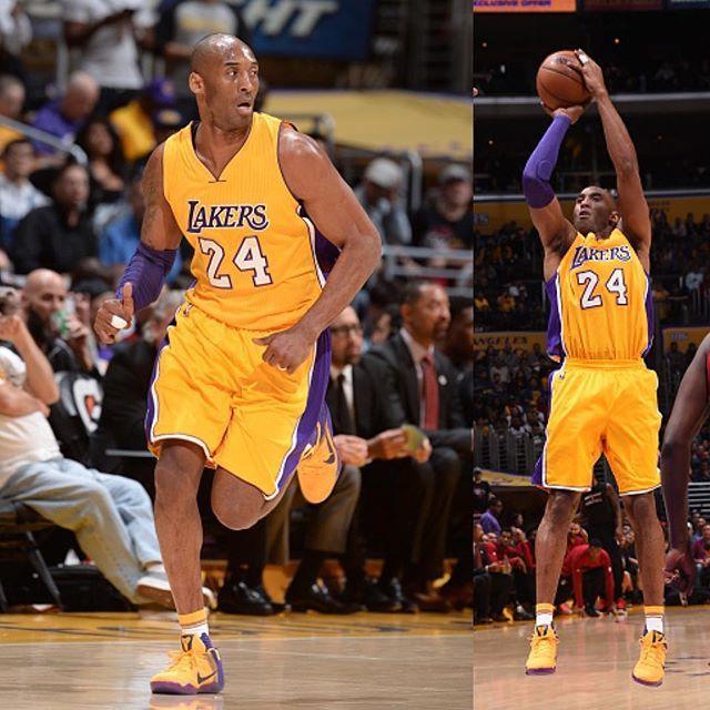 """""""Lakers vs Bucks, Kobe Bryant in Nike Kobe 11 PE #kobe11 #nike #kobe  #nikebasketball #bryant #blackmamba #kicksonfire #kickstagram #kicksoncourt…"""