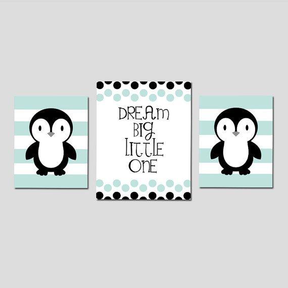 PENGUIN vivero arte pingüino vivero Decor pingüino vivero arte
