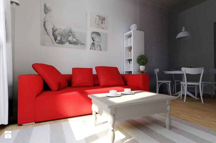 Czerwony w salonie: zobacz z jakimi barwami go łączyć i jakie dodatki wybierać. Zainspiruj się pomysłami na aranżację twojego wnętrza z czerwonym w tle.