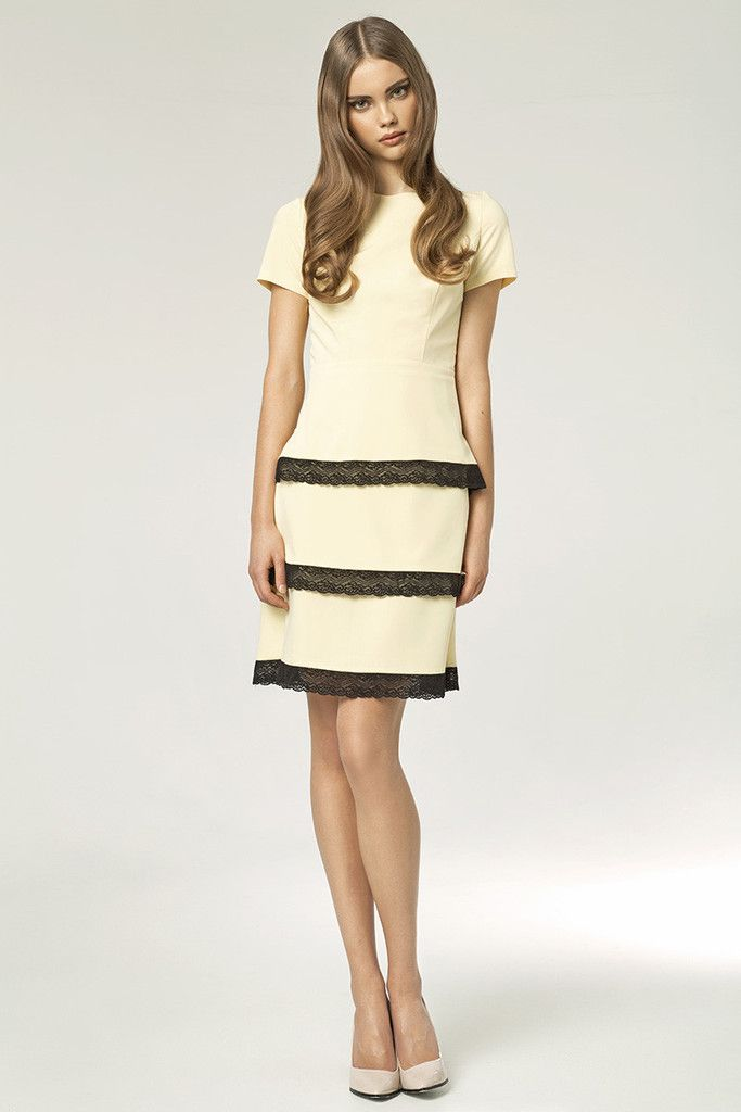 Lovely Summer Yellow Dress With Black Frills – Kiss and Belle Boutique