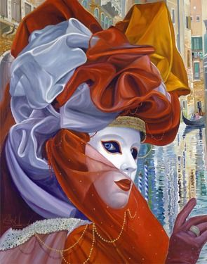 Saatchi Online Artist Alex Levin; Painting, Venetian Mesmerizing Gaze, Original Artwork, Oil on Canvas. #art