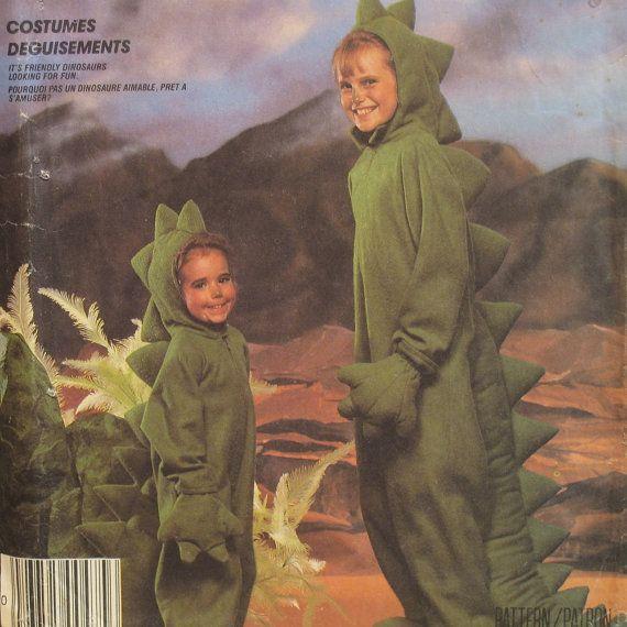 mccalls 2749 childrens dinosaur costume sewing pattern size m halloween - Baby Halloween Costume Patterns