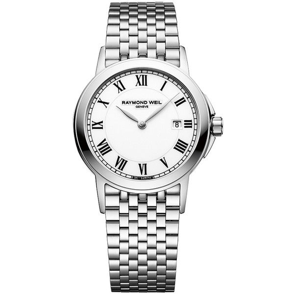 Raymond Weil Tradition 5966-st-00300 Watch (5.175 NOK) ❤ liked on Polyvore featuring jewelry, watches, stainless steel, stainless steel jewelry, roman numeral watches, stainless steel watches, stainless steel jewellery and stainless steel wrist watch