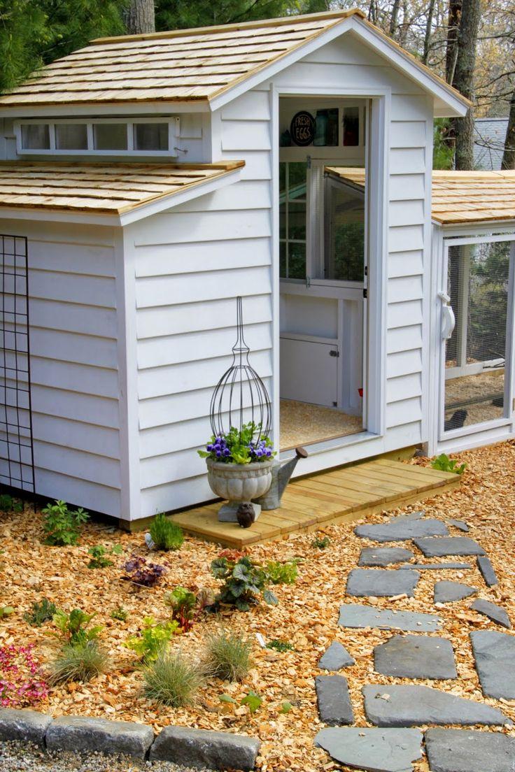 249 best chicken coop hen house ideas images on for Chicken coop ideas